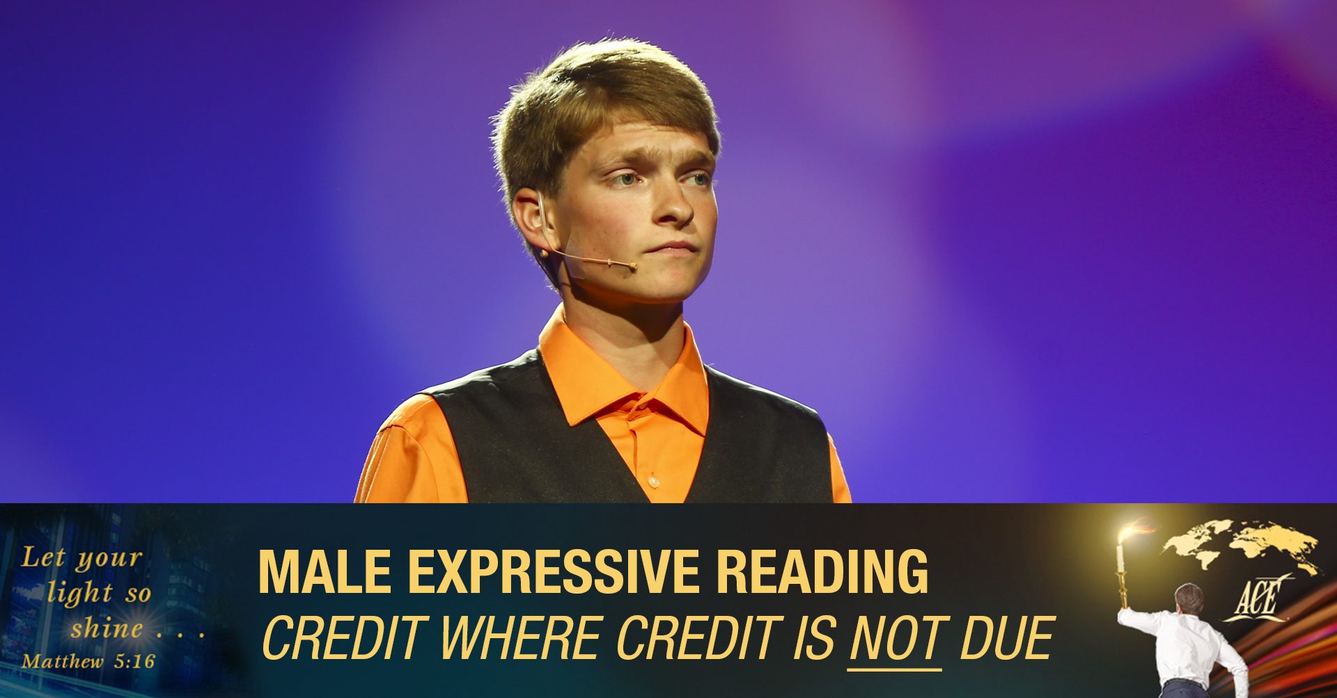 """Male Expressive Reading, """"Credit Where Credit Is NOT Due"""" - ISC 2019"""
