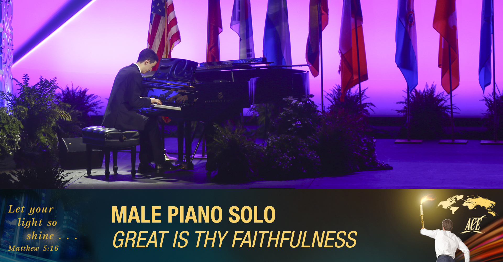 """Male Piano Solo, """"Great Is Thy Faithfulness"""" - ISC 2019"""