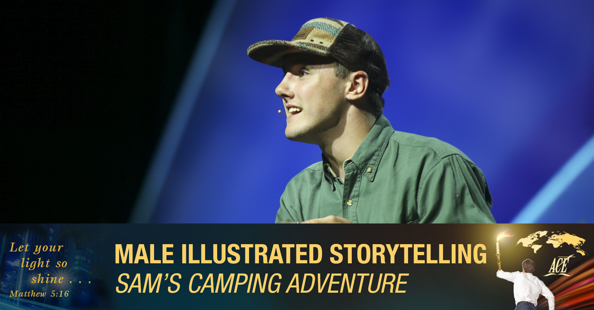 """Male Illustrated Storytelling, """"Sam's Camping Adventure"""" - ISC 2019"""
